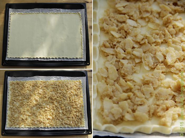 Слоеный пирог с миндалем – Hojaldre sencillo de almendras