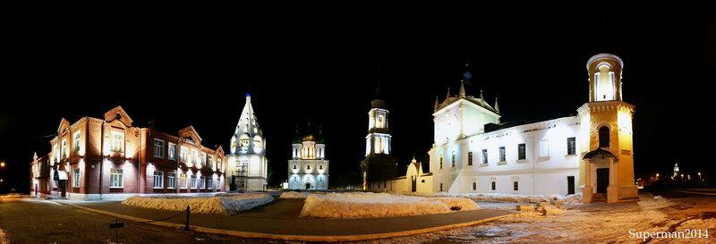 ночью в Коломенском кремле