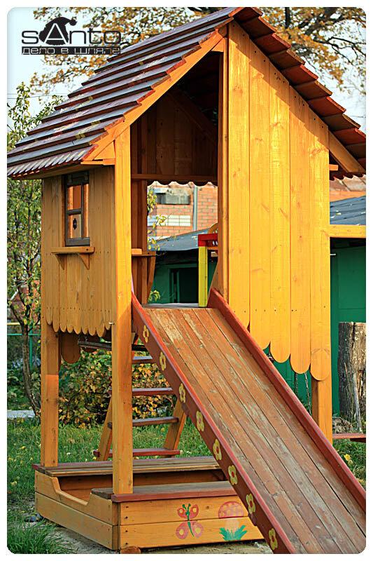 Устройство детской площадки на даче своими руками