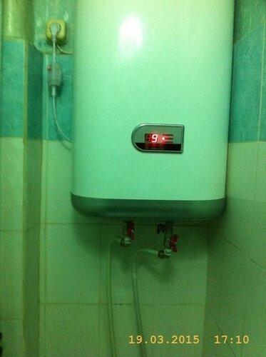 Наполнили и включили титанчик на нагрев воды