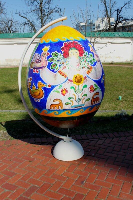 Берегиня на пасхальном яйце