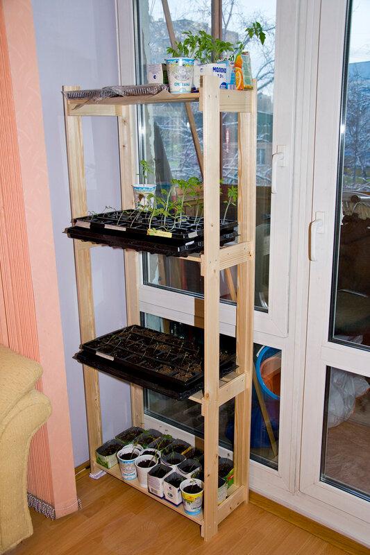 Стеллаж для рассады и растений со светодиодной …