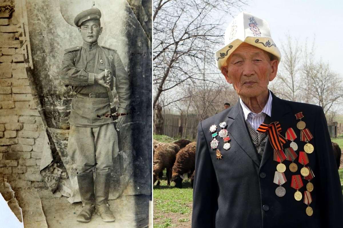 15 героев Великой Отечественной Войны из 15 республик Советского Союза - Абла Бегалиев, уроженец Киргизии, 91 год