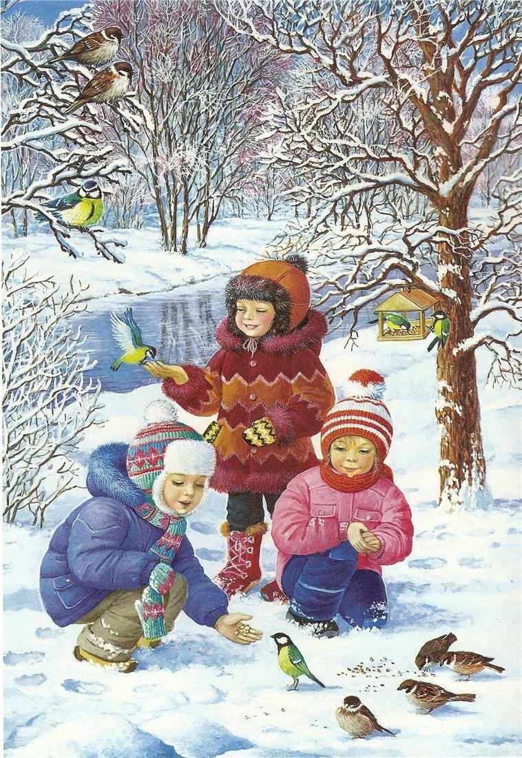 Любовь Новосёлова.Зима.