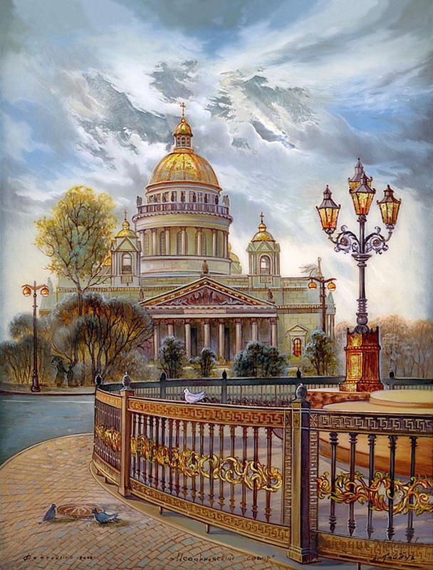 014 Федоскино - Исаакиевский собор.