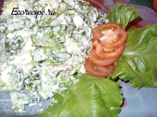 Вкусный и недорогой салат Весенний