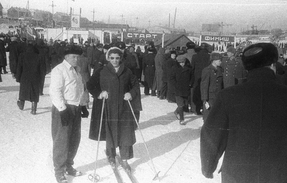 1950-е. На лыжах