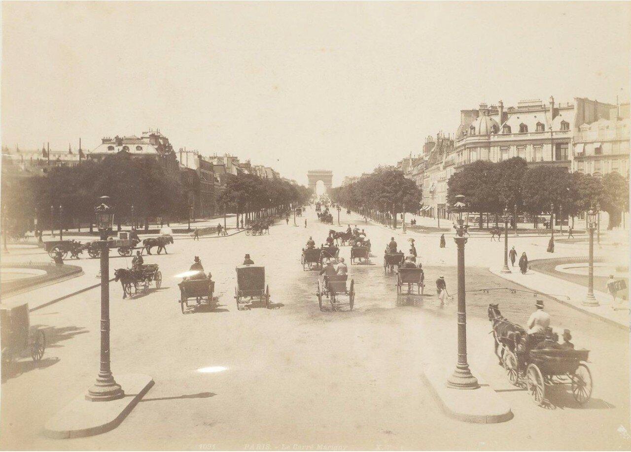 1885. Елисейские поля и Карре Мариньи
