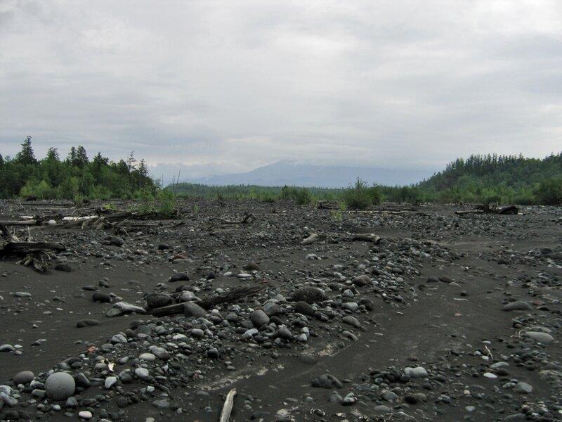 Долина реки у Толбачика, Камчатка