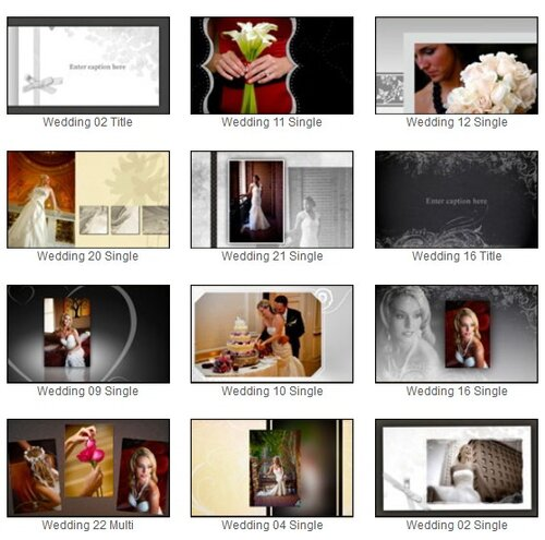 proshow style pack wedding