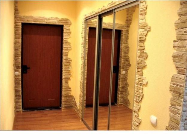 фото отделка камнем квартир