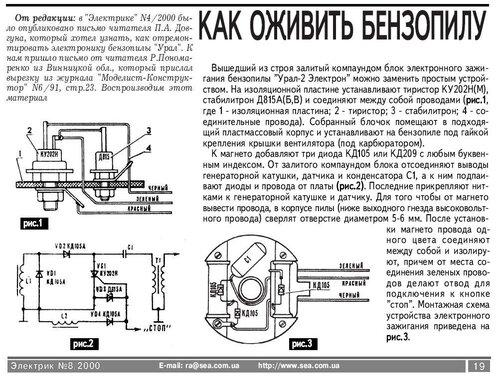 «ремонт магнето бензопилы.»