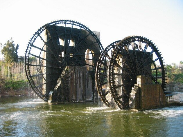 Водяные мельницы в городе Хама. Сирия