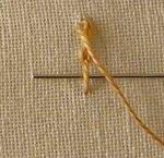 Вышивка листика