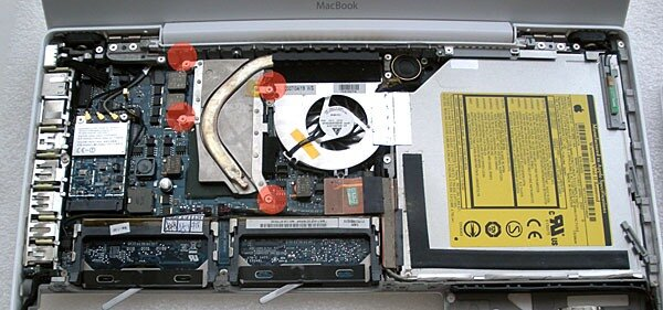 disassemble Apple macbook white
