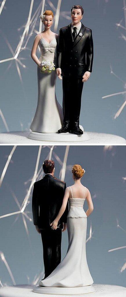 прикольные фигурки на свадебный торт