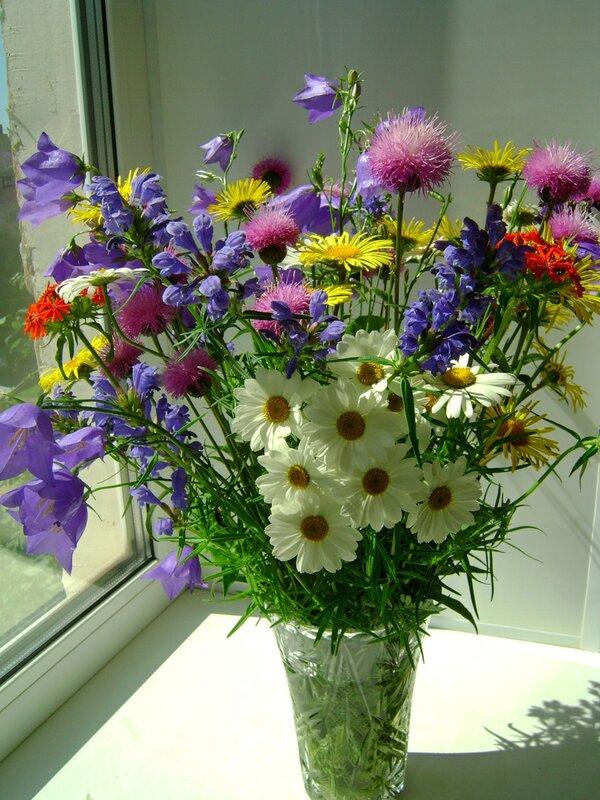 букет полевых цветов в вазе (225x300, 28Kb) .