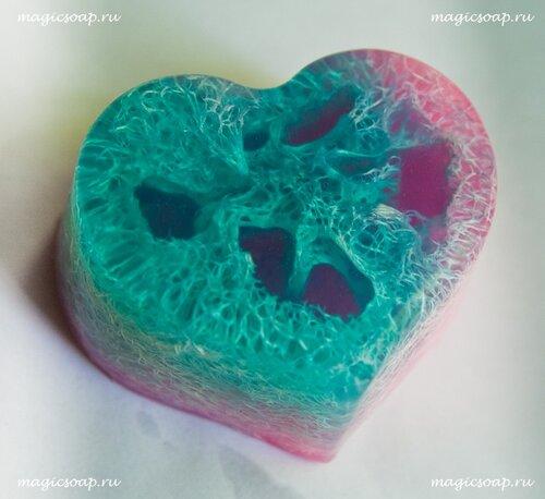 мыло с люфой для антицеллюлитного массажа