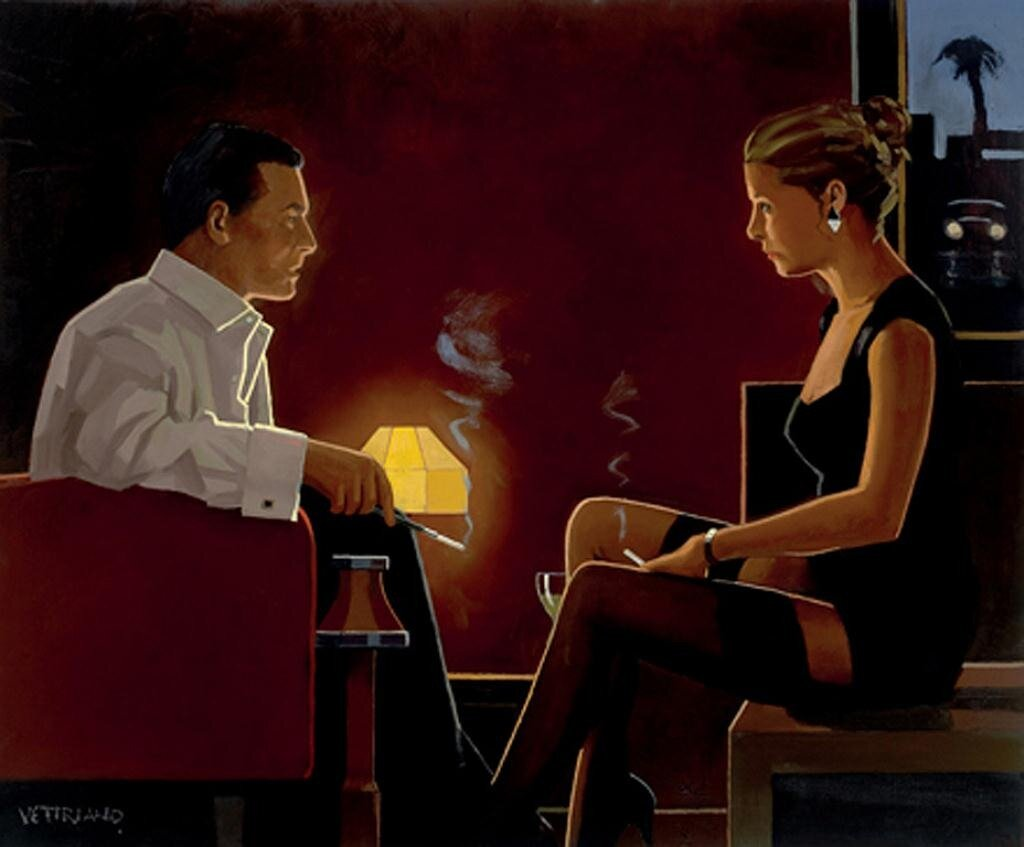 Queen Of Diamonds, by Jack Vettriano