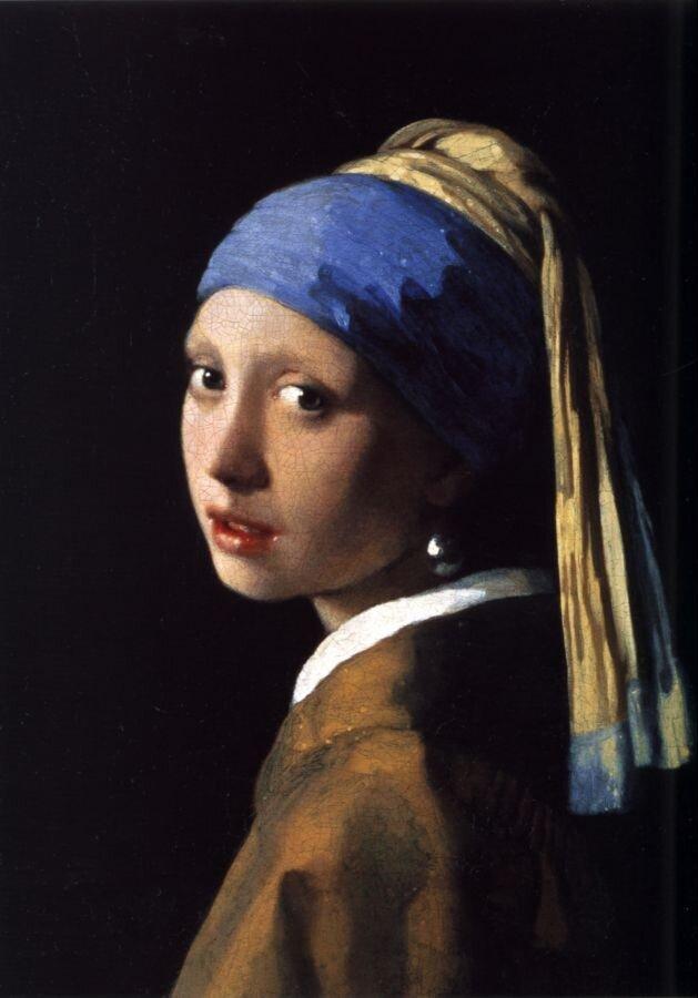 Девушка с жемчужной серёжкой. (1665)Вермеер, Ян,
