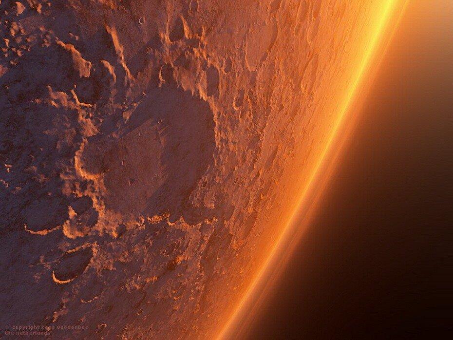 Марс,фото Марса,горы,горы Марса