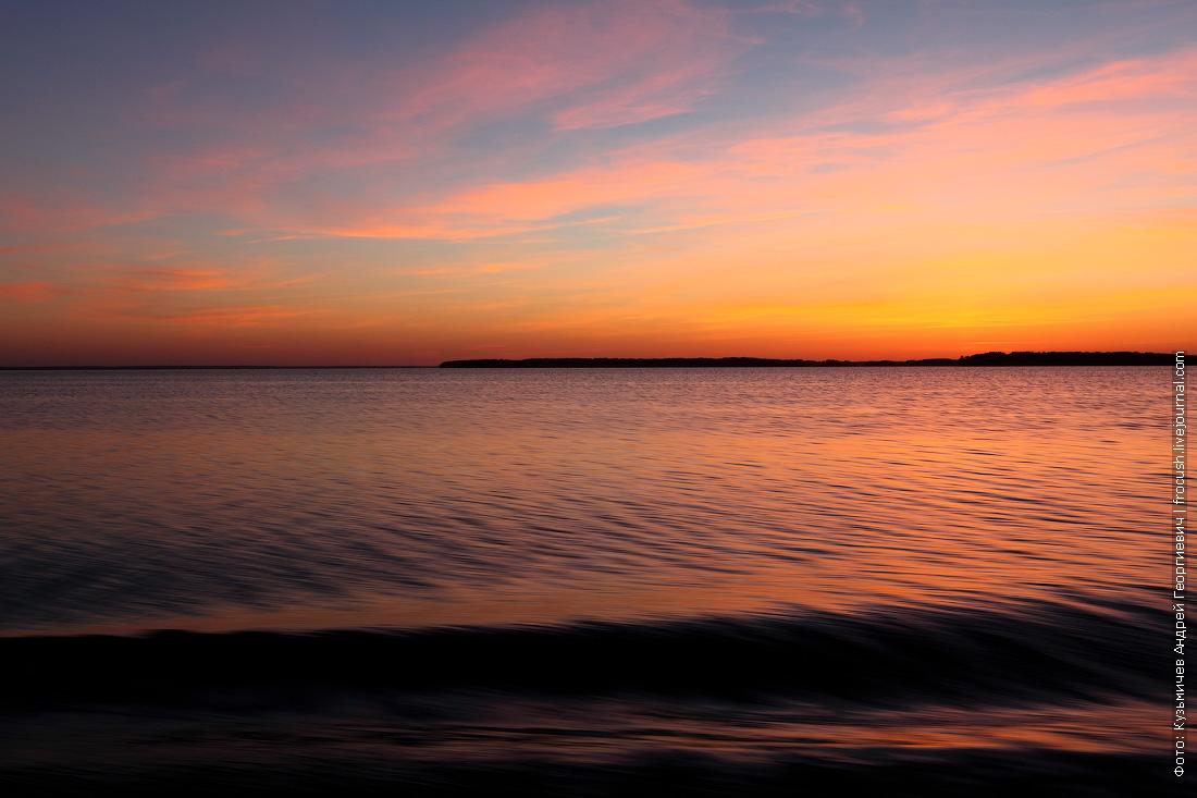 закат на Волге фото