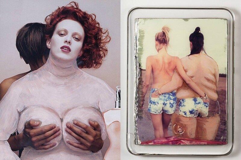 Турецкая художница Нур Гюрель превращает глянцевых моделей в тучных толстушек