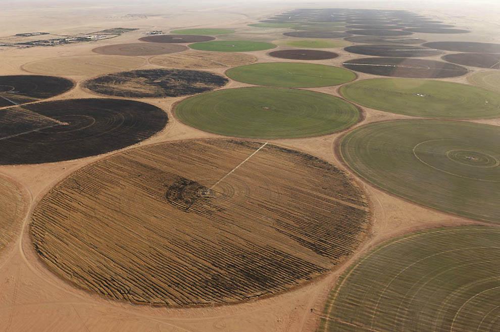 6. Проект кругового орошения вдоль песчаной пустыни Эдейен-Мурзук. (George Steinmetz)