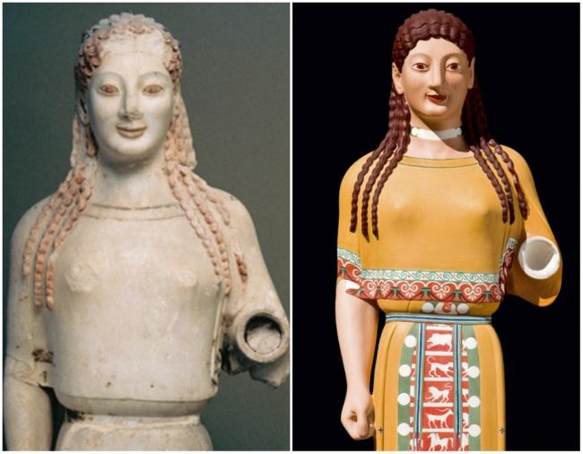 Кора в пеплосе из Музея Афинского Акрополя.
