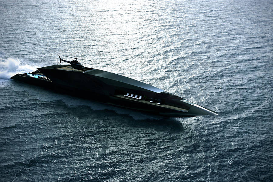 The Black Swan Superyacht (8 pics)