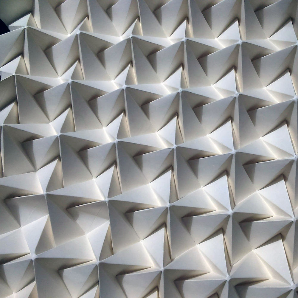 Tessellating Patterns Formed From Intricately Folded Paper by Polly Verity