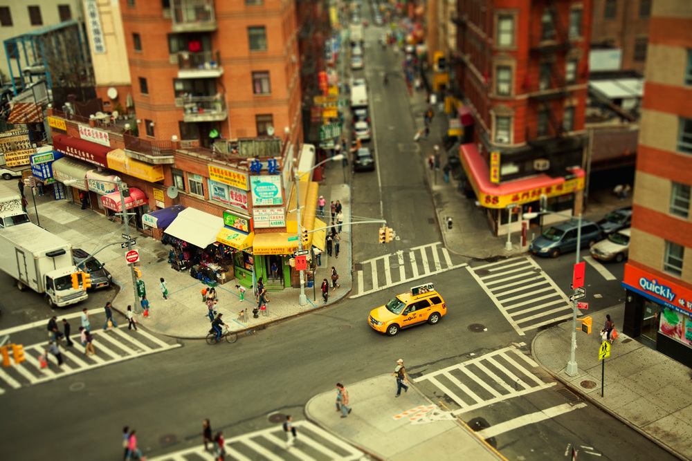 The tilt-shift has a penchant for making photos look almost like dioramas, like little train sets bu