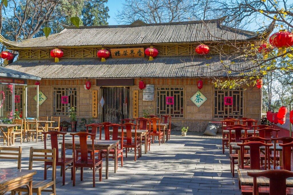 Чайная, монастырь Сянцзе, Бадачу