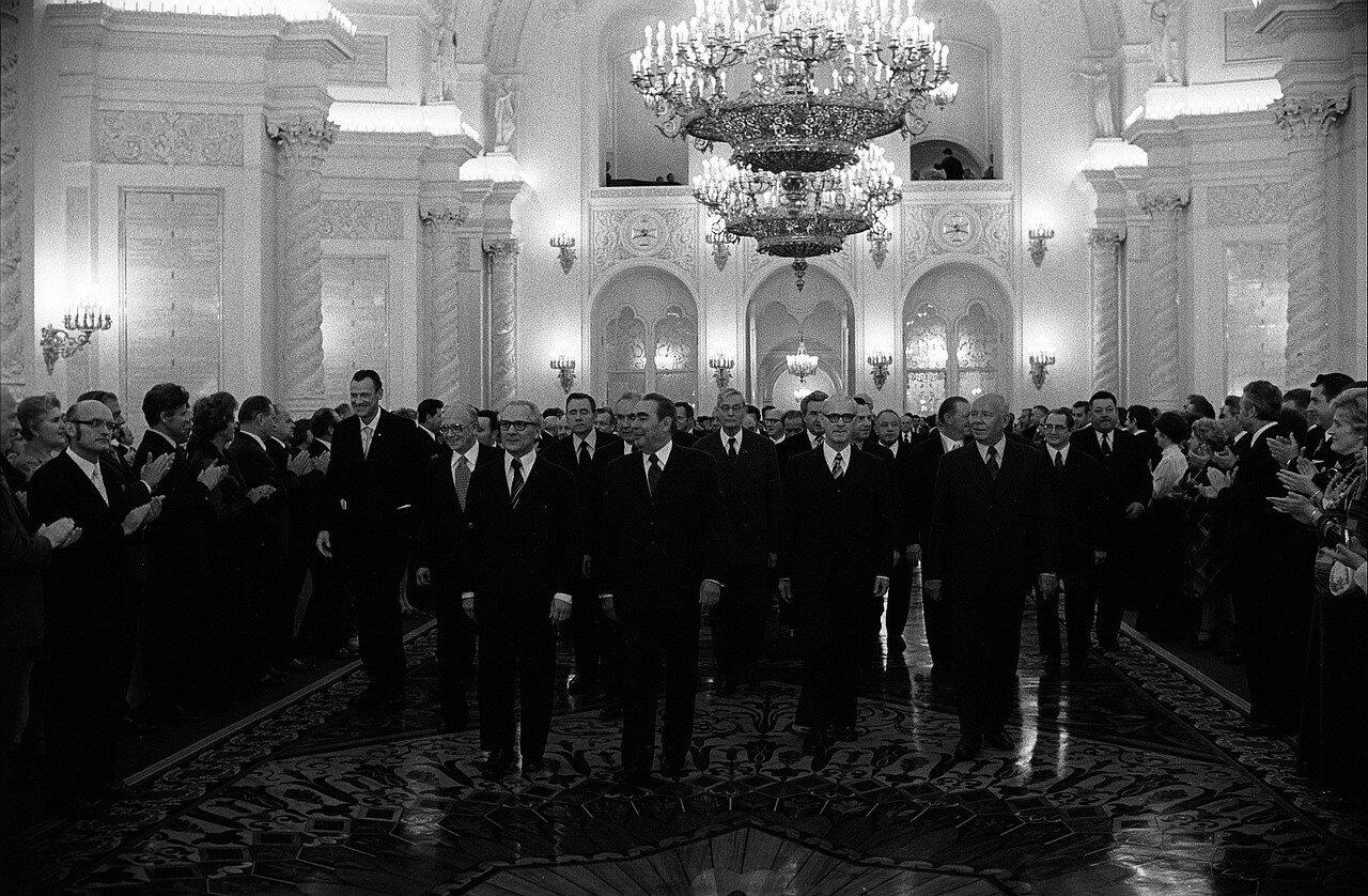 Прием делегации ГДР в Кремле