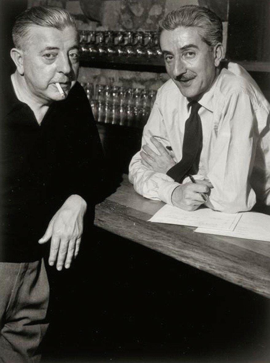 1951. Пьер и Жак Превер на рю де Гренель