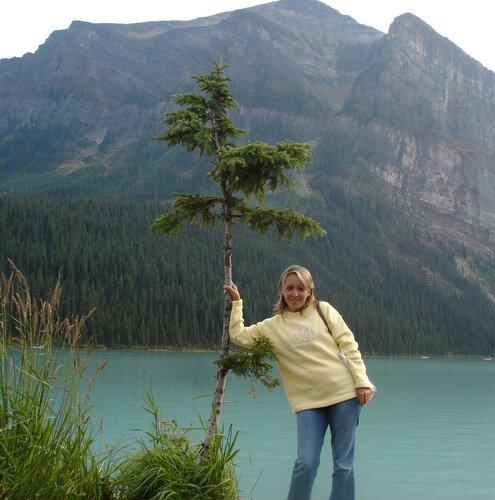 Непуганый канадский бурундучок у озера Лейк-Луис.