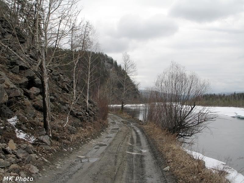 Дорога по вырубленной полке