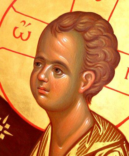 Тихвинская икона Божией Матери. Иконописец Наталия Пискунова.