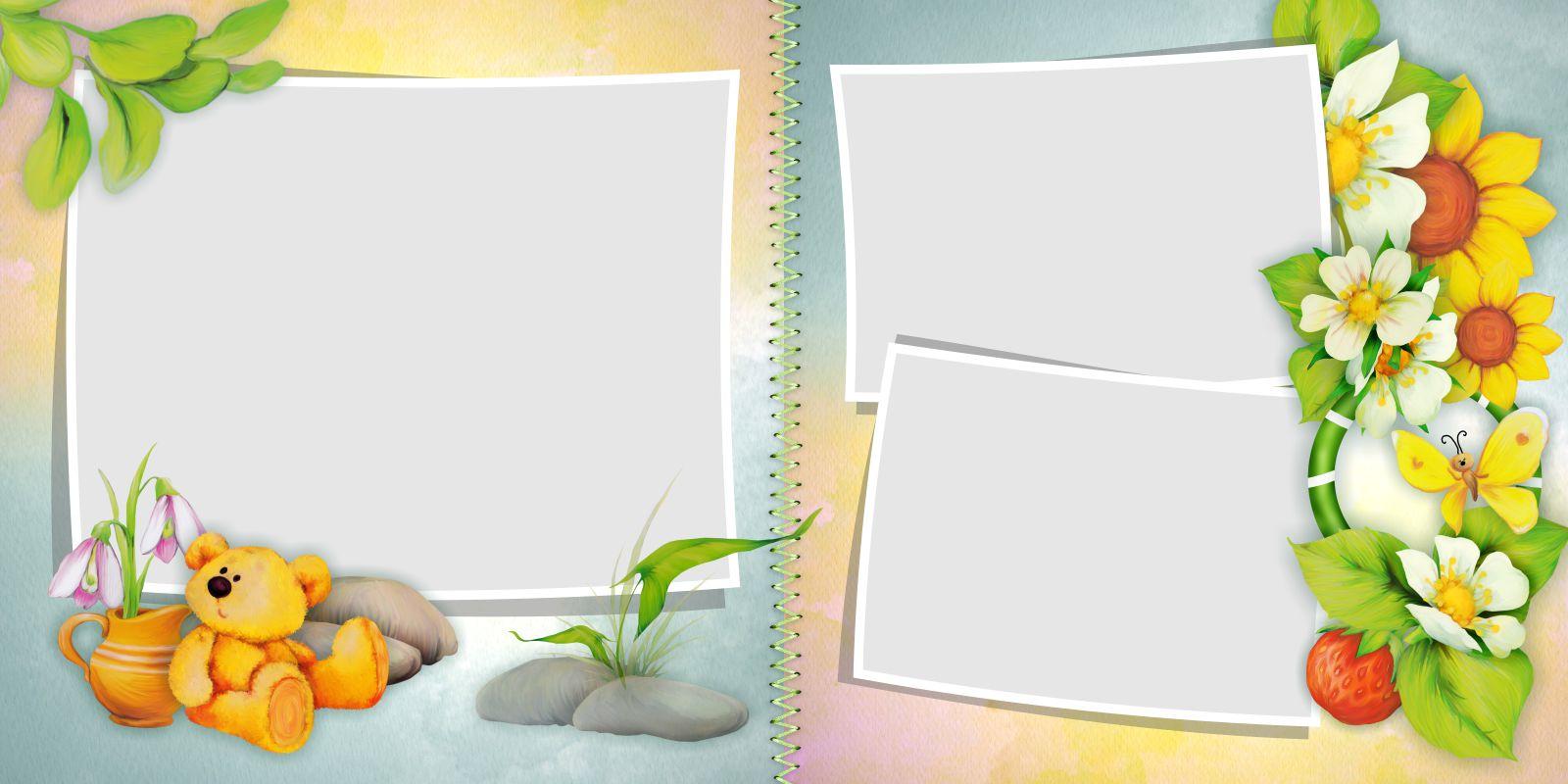 фотокнига для ребенка шаблон
