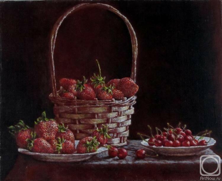 Живопись Автомеенко Валерия Викторовича. Натюрморт с ягодами