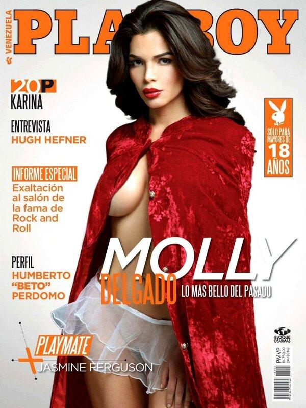 Miss june 2016 Venezuela Molly Delgado in Playboy