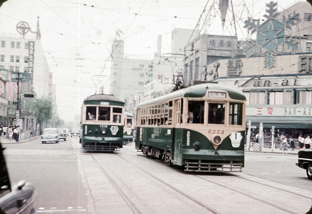 Ginza Trolley Cars - 1957