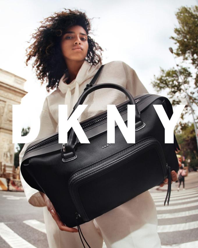 Имаан Хаммам в рекламной кампании DKNY