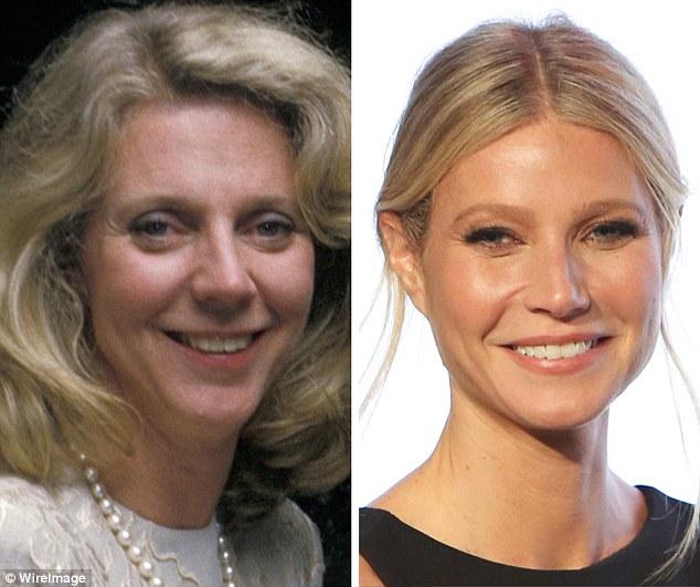Слева актриса Блайт Даннер, а справа ее дочь Гвинет Пэлтроу, им здесь по 44 года.