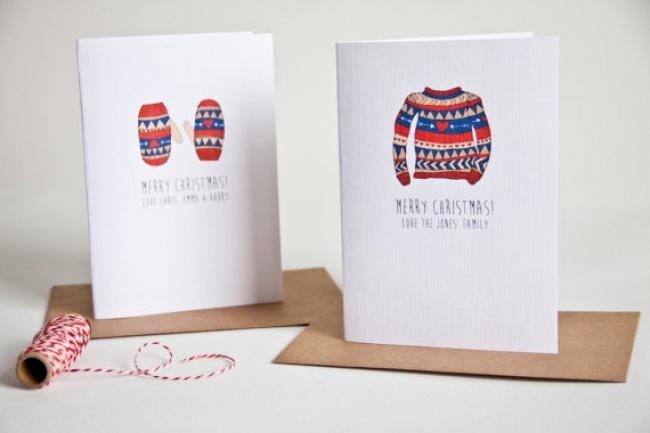 © Emma Moore / notonthehighstreet  Тотже принцип, что лежит воснове открытки счерно-белыми