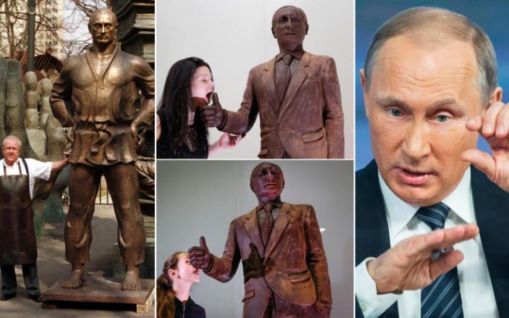 Провокационная статуя Кейт Мосс на выставке Statuephilia Sculpture Exhibition в Британском музее в 2