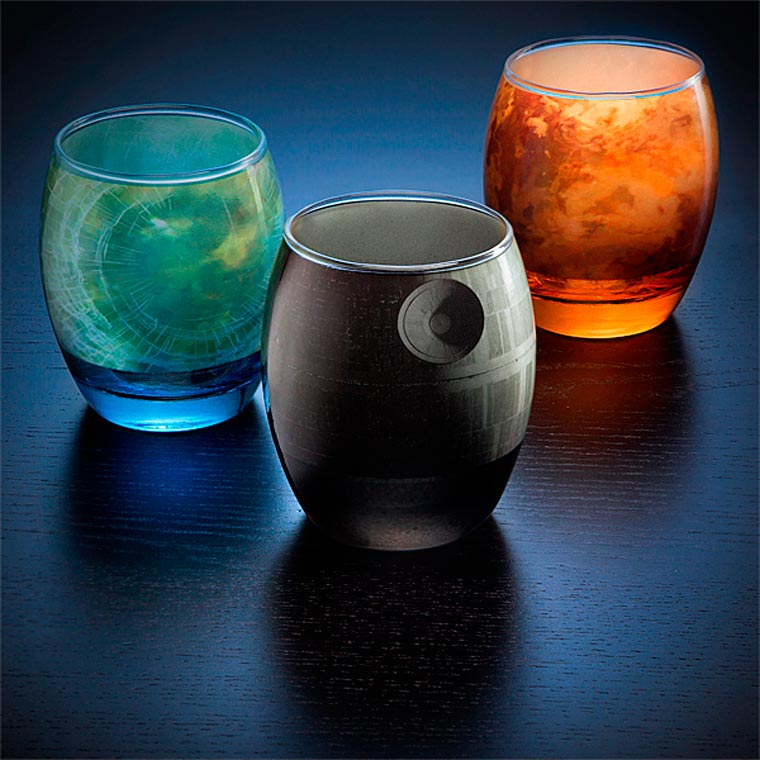 Planetary Glassware - A beautiful glass set in tribute to the famous Star Wars planets