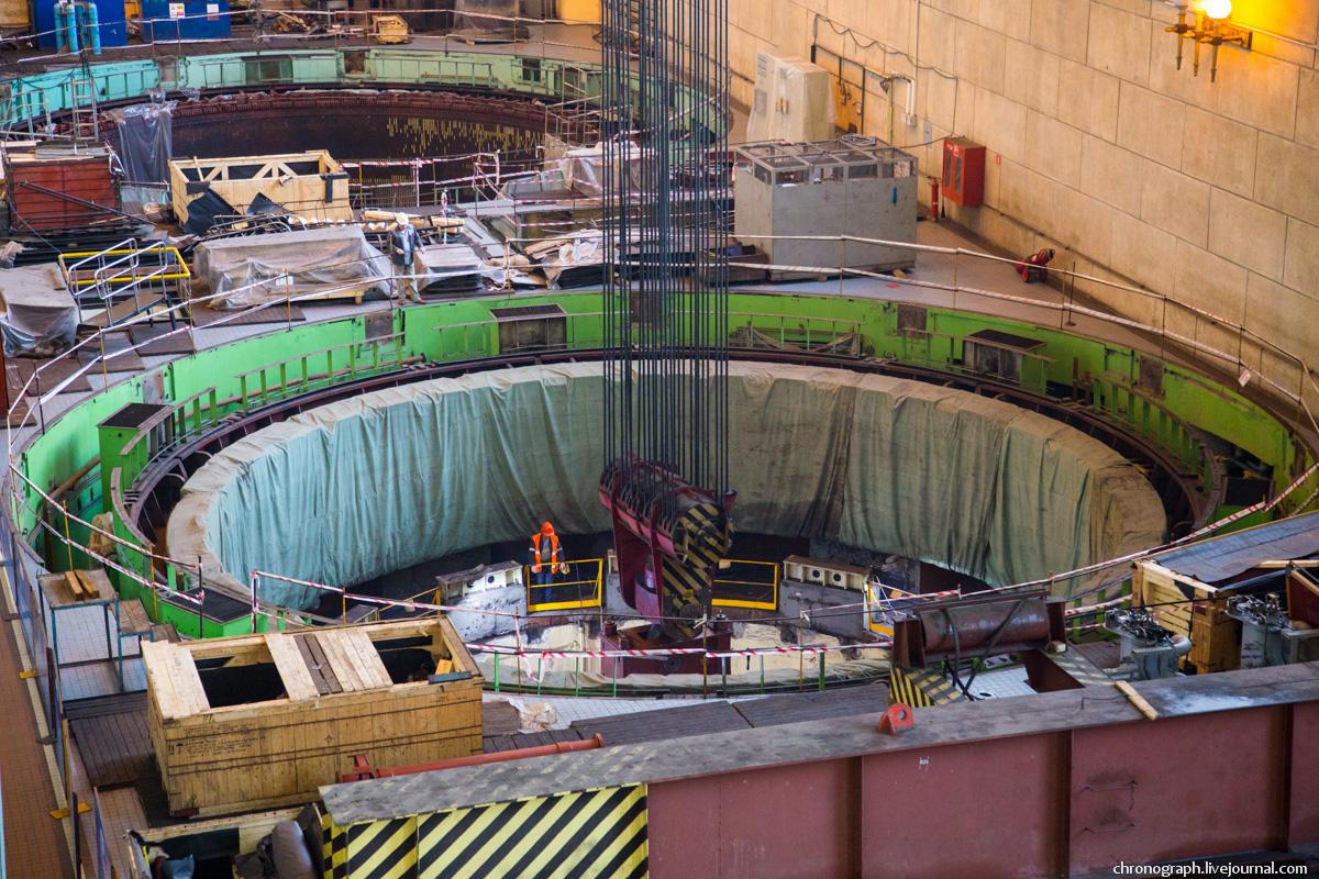 Монтаж рабочего колеса гидроагрегата №7 на Жигулёвской ГЭС 0_11235a_ce3d14a1_orig