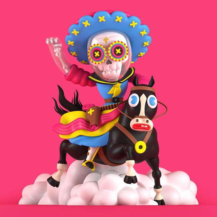 Grand Chamaco - Des sculptures numeriques pop et colorees