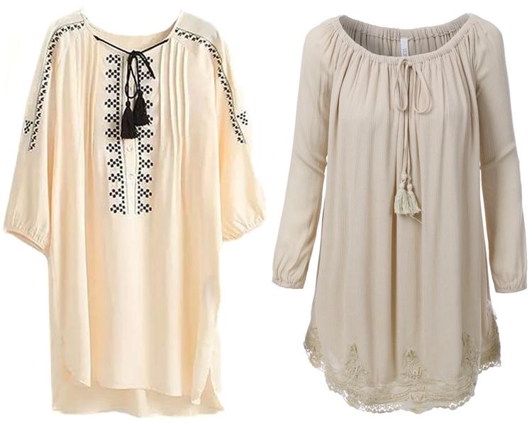 модный фасон платья 2016: платья-туники